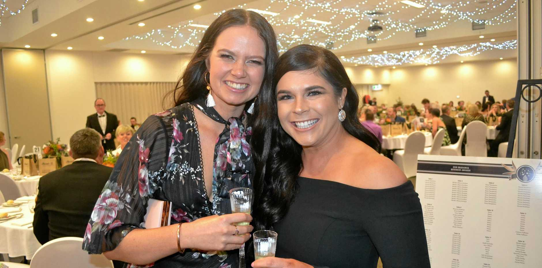 AWARDS NIGHT: Sophie Kluckhohn and Moz Miller at the annual Maranoa Business Awards evening.