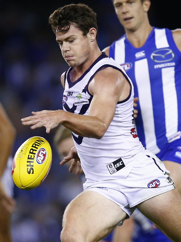 Lachie Neale in action for Fremantle. Picture: Colleen Petch