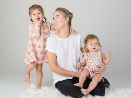 Nikki Bardis with her daughters.