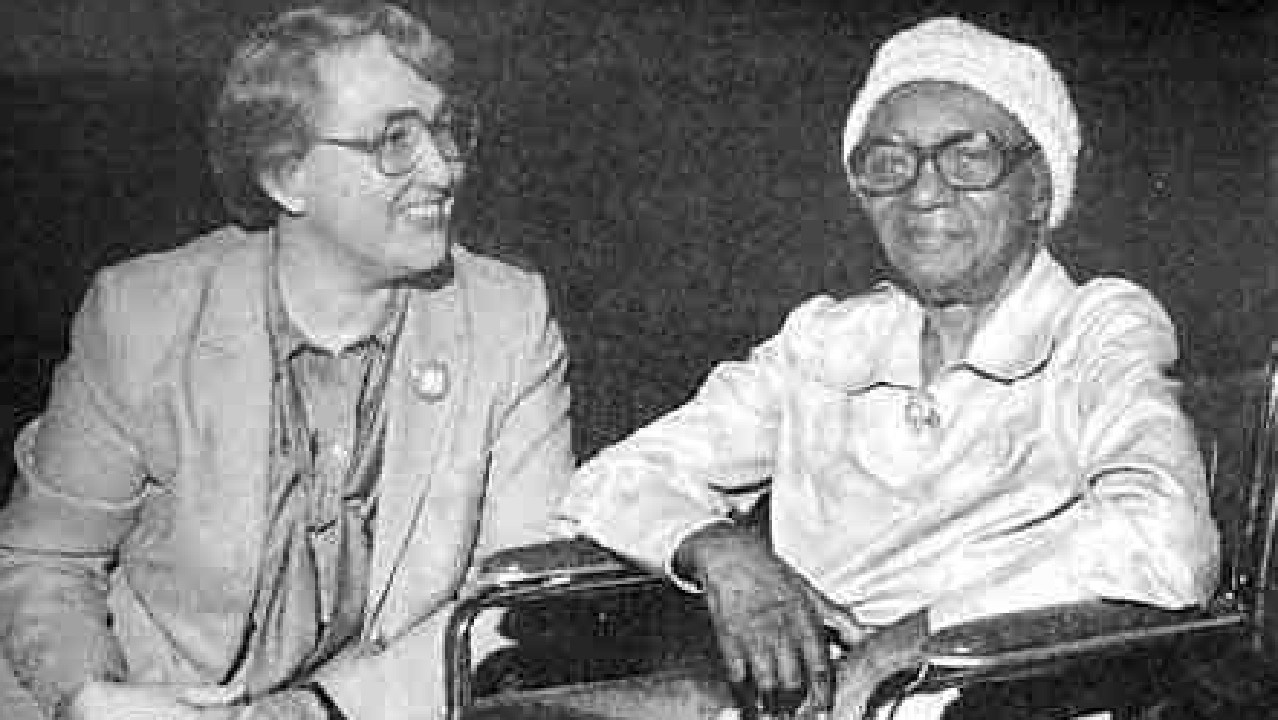 Hyacinth Thrash (right) survived the Jonestown massacre by hiding under her bed, and died peacefully 17 years later.