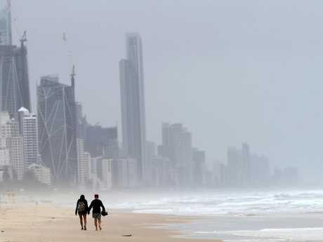 Wild weather on the Gold Coast. Picture: Nigel Hallett