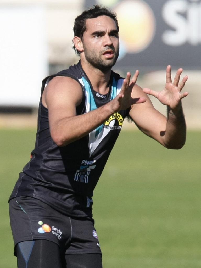 Shaun Burgoyne at Port Adelaide training.
