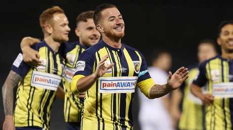 Ross McCormack lit up the A-League for Melbourne City last season but returns for Central Coast for 2018-19. Picture: Brett Costello