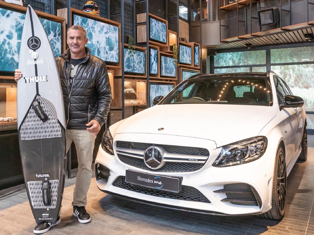 Garrett McNamara at Mercedes-Benz Me store in Melbourne