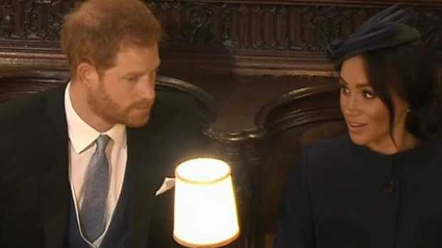 Did Prince Harry and Meghan Markle have a fight at Princess Eugenie's wedding? Picture: Channel 7