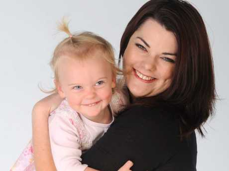 Senator Sarah Hanson-Young with her then two-year-old Kora, who was born while she was on the campaign trail.