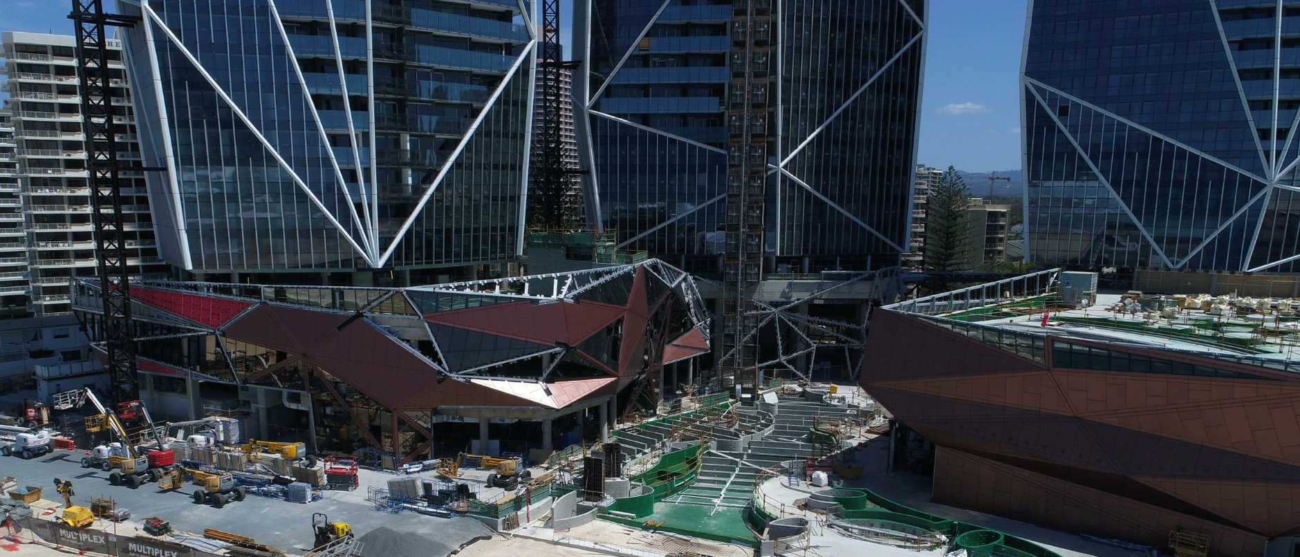 Developer Yuhu Group has consistently said it wants to finish the hotel and apartment towers with beach-edge pool and restaurant areas to the highest standard. Picture Glenn Hampson