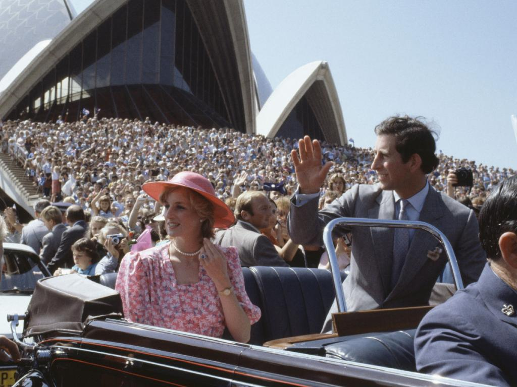 Prince Charles and Princess Diana in Australia in 1983. Picture: Getty