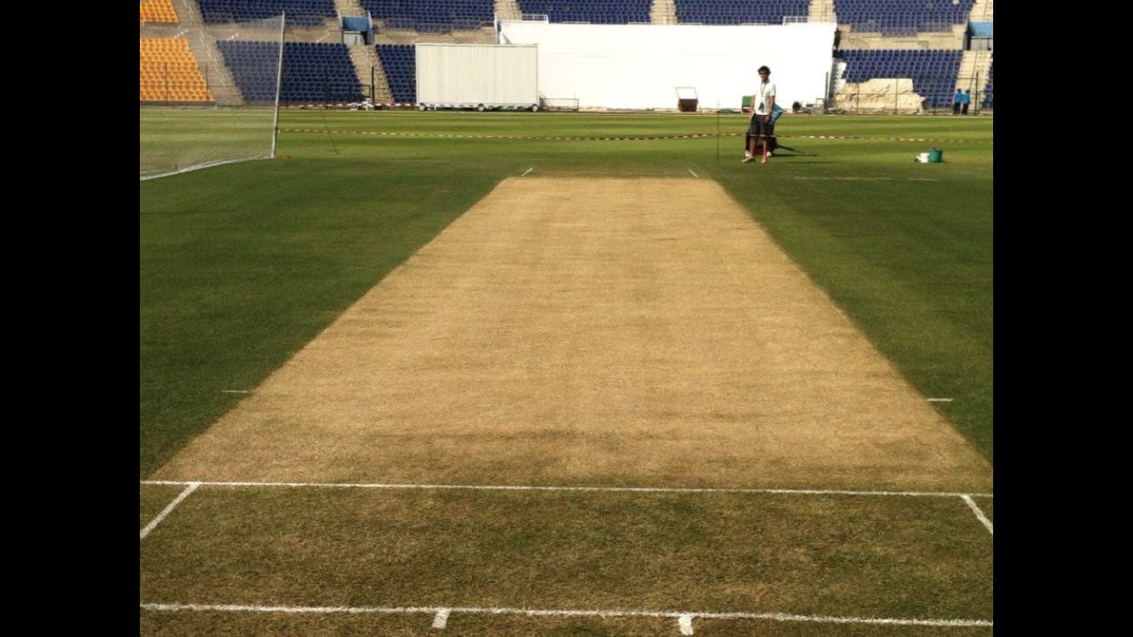 Dry as the desert: The corresponding pitch four years ago.
