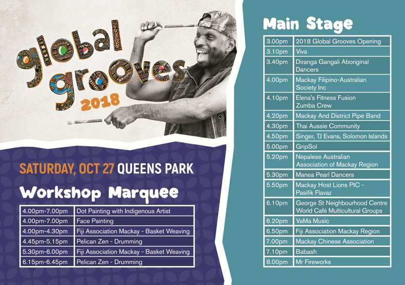 Put these times in your diary for Global Grooves.
