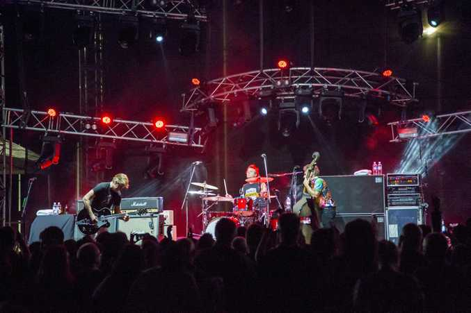 The Living End rocks out at Sugar City Sounds 2018 in Mackay.