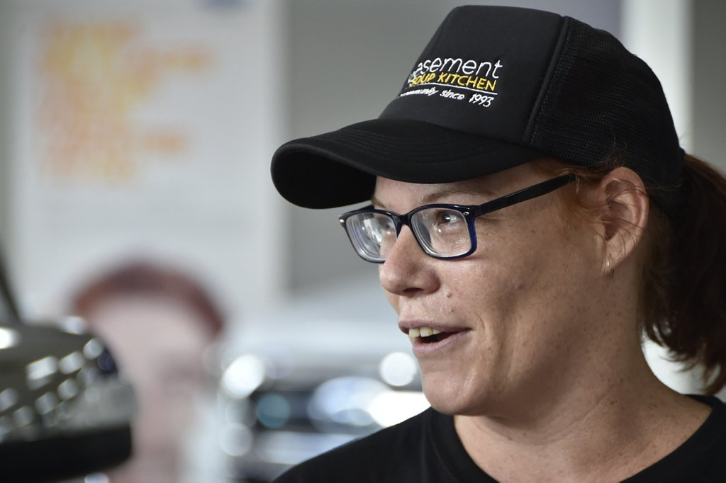 Louisa McLean. Launch Hike for Homeless at John Armstrong Autos. October 2018