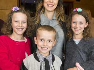 Kristy Crocker with her kids (from left) Kaylee