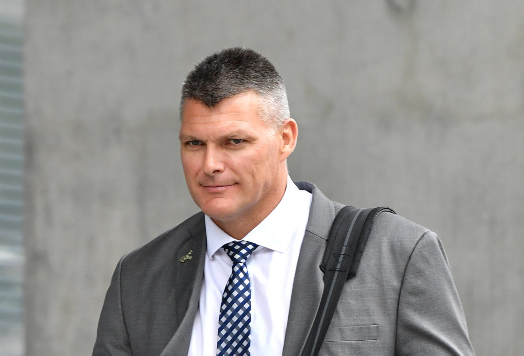 Detective Sergeant Dane Sheraton was the first witness at the Nanango murder trial this week.