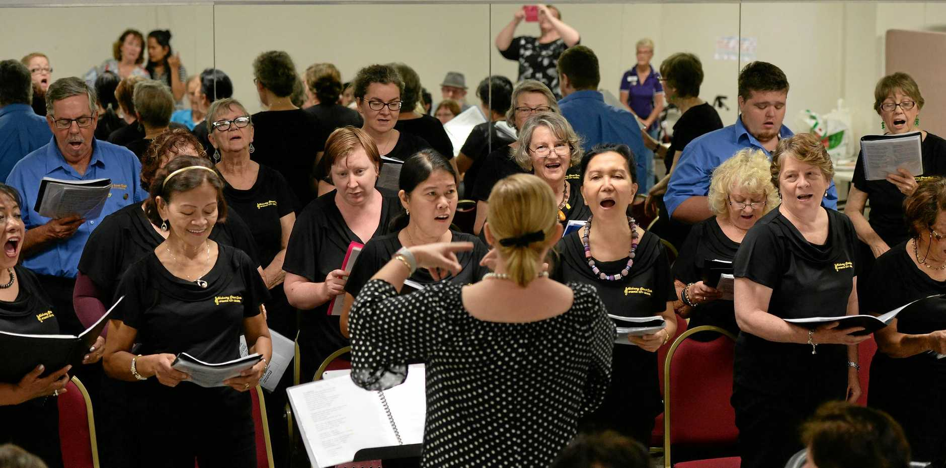 All the fun of the Alchemy Street Choir seniors performance at the Humanities Centre on Wednsday.