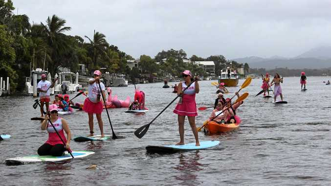 Paddle in Pink brightens Sunday