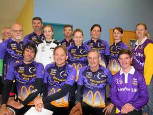 Fundraising cyclists brave severe weather