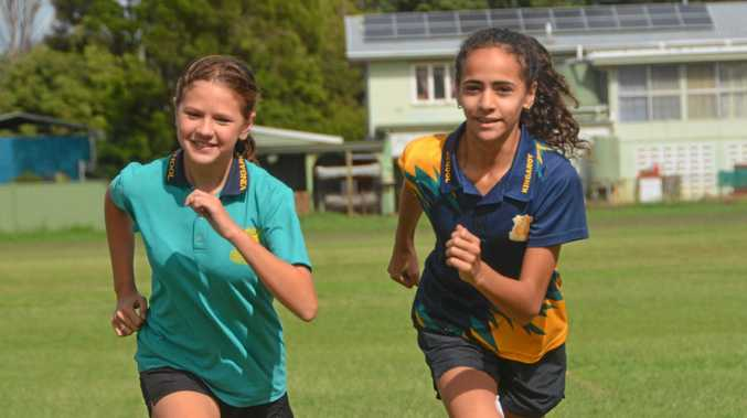 Indy Eriksen and Bibi Phillips-Petersen get in some last-minute training before travelling to Cairns for the state championships.