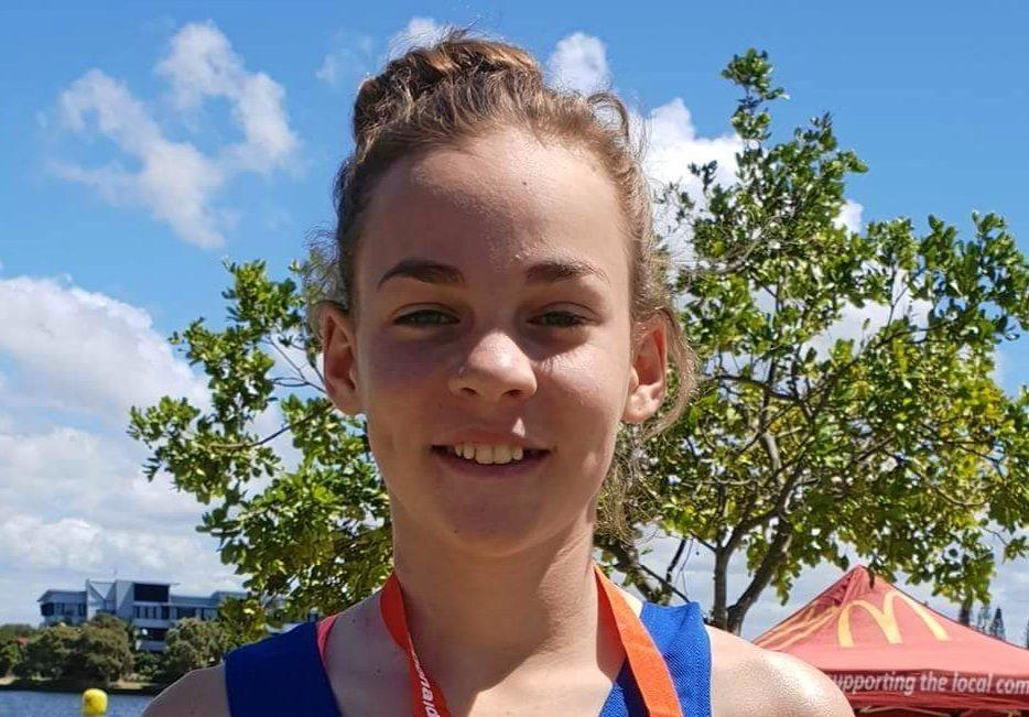 Waterworx Swimming Club open water competitor Kaia Sugars.