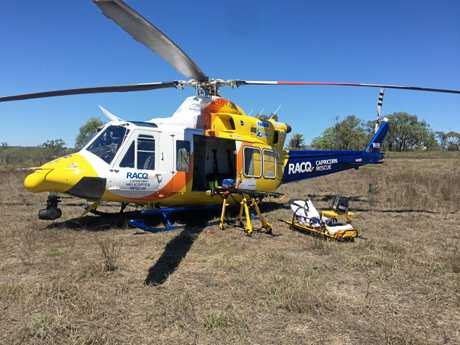 RACQ Capricorn Helicopter Rescue Service were called to a workplace accident in Pheasant Creek on Monday morning.