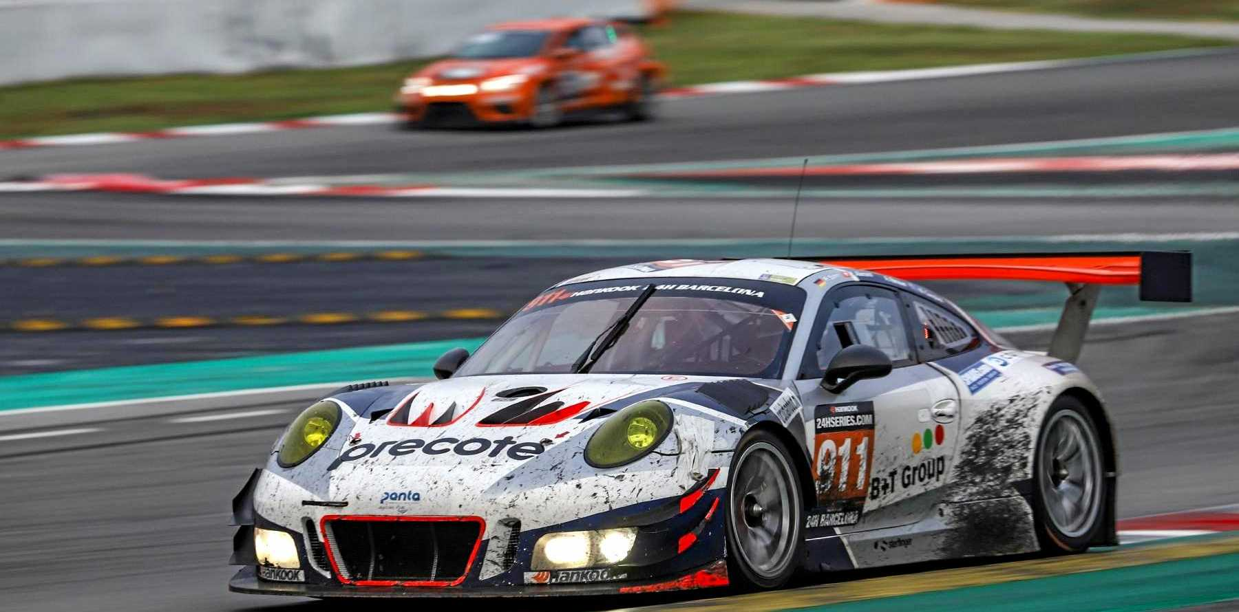 FAST: Warwick driver Matt Campbell on the way to a win in the 24 Hour Barcelona endurance race this year.