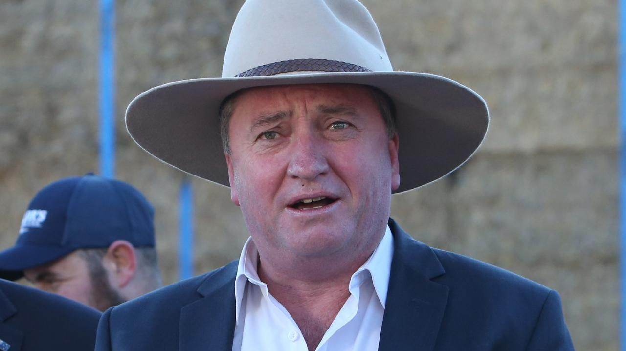 Special Envoy for Drought Assistance and Recovery Barnaby Joyce on a property in Royalla, NSW. Picture: Kym Smith