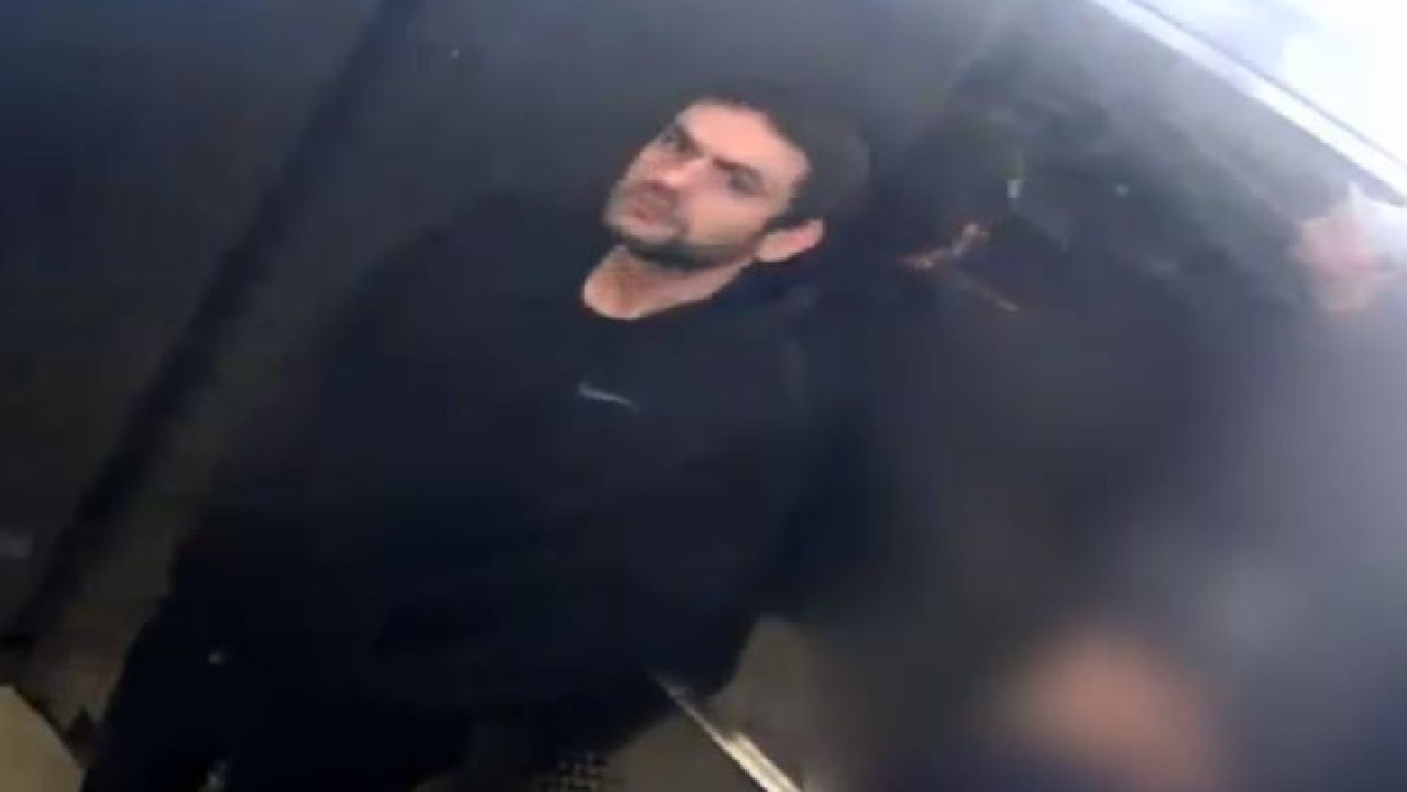 Police have released vision of three men wanted over a sickening attack on a man in a Collingwood lift. Picture: Victoria Police