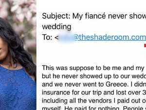 Fiance's horror act at wedding