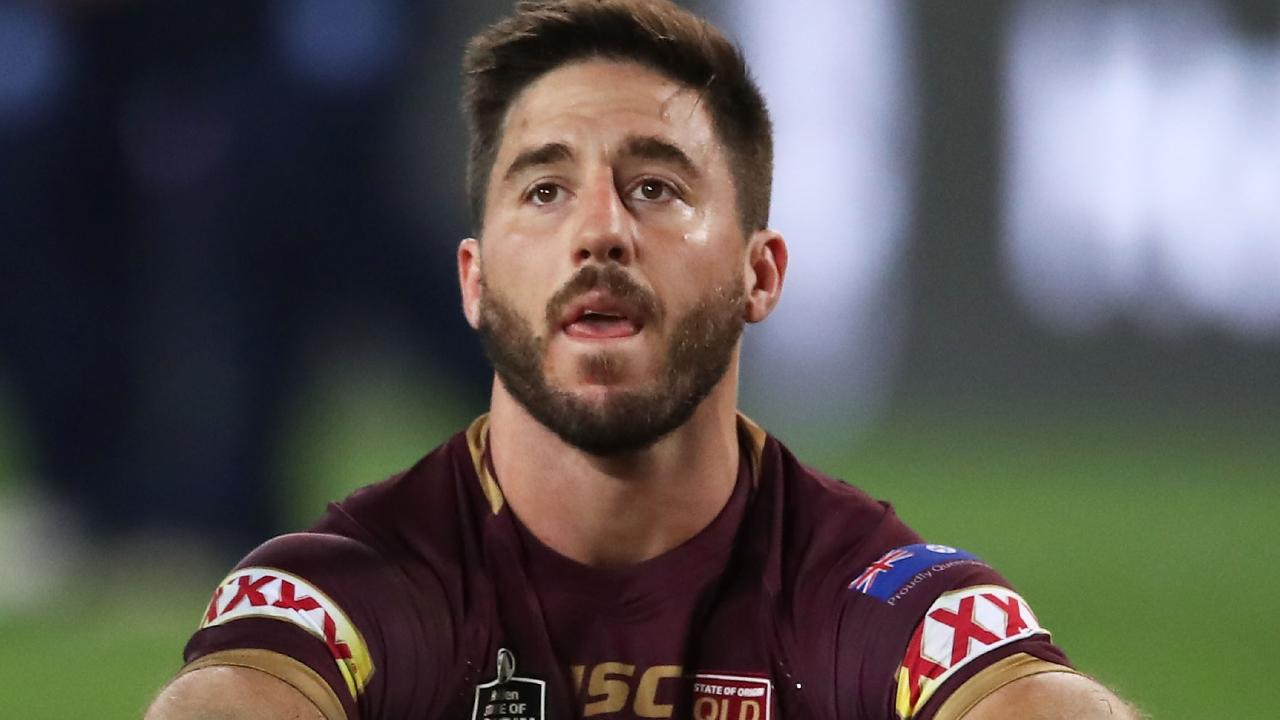 Ben Hunt of the Maroons looks dejected at fulltime during game two of the State of Origin series. (Photo by Matt King/Getty Images)