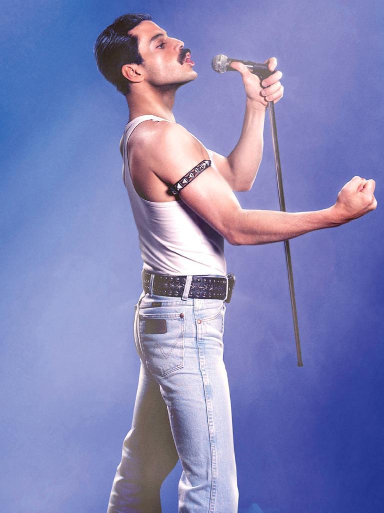 Rami Malek in character.