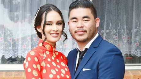 Katherine Hoang was killed in the crash along with her unborn twins. Her husband Bronco cried after waking up to the terrible news. Picture: Facebook
