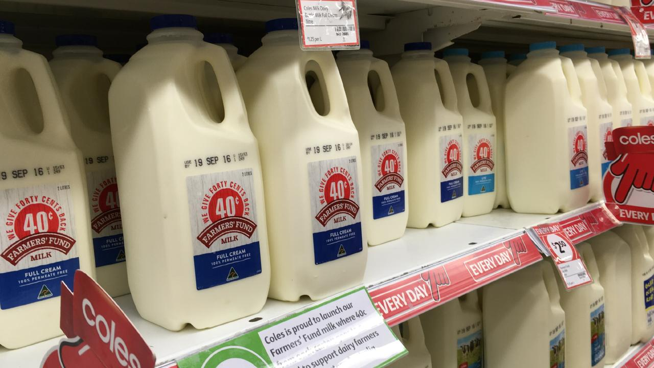 Coles, in particular, drew criticism from Mr Littleproud over its milk levy. Picture: Supplied