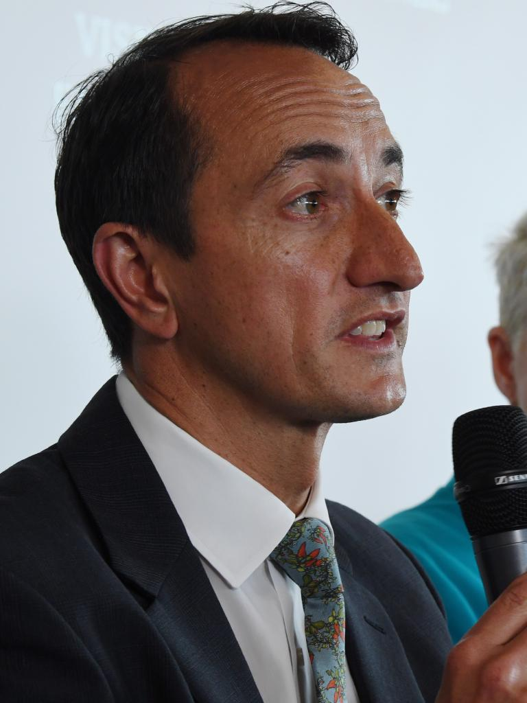 Dave Sharma, Wentworth's Liberal candidate and former ambassador to Israel, convinced Mr Morrison that Australia's Israeli embassy could be moved to West Jerusalem. Picture: AAP