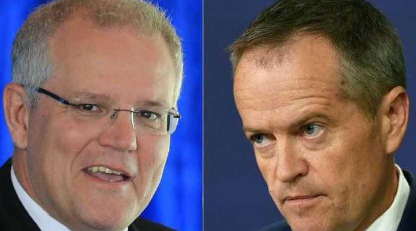 Scott Morrison is now considered a better option than Malcolm Turnbull to win an election against Bill Shorten. Picture: AP