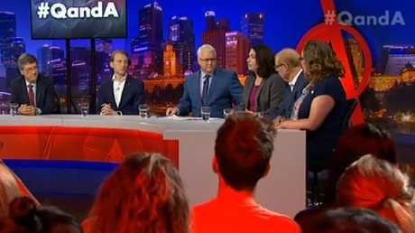 Monday night's Q&A panel on the ABC.