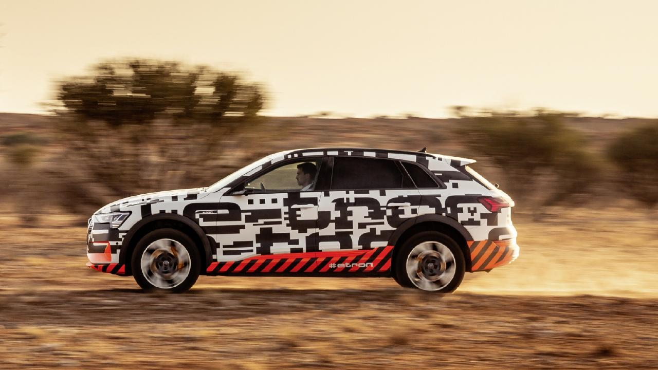The E-Tron has impressive acceleration for such a heavy vehicle. Picture: Supplied.