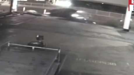 The Charlestown crash was caught on CCTV. Source: 9NEWS