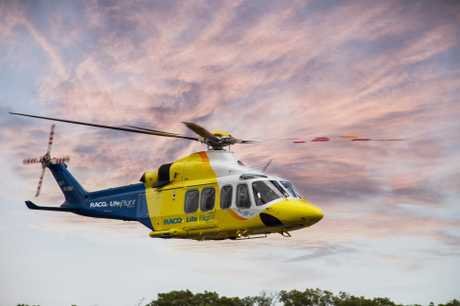 A rescue helicopter and paramedics raced to Dolphin Point at the park to assist lifeguards at 7.40am. Via LifeFlight