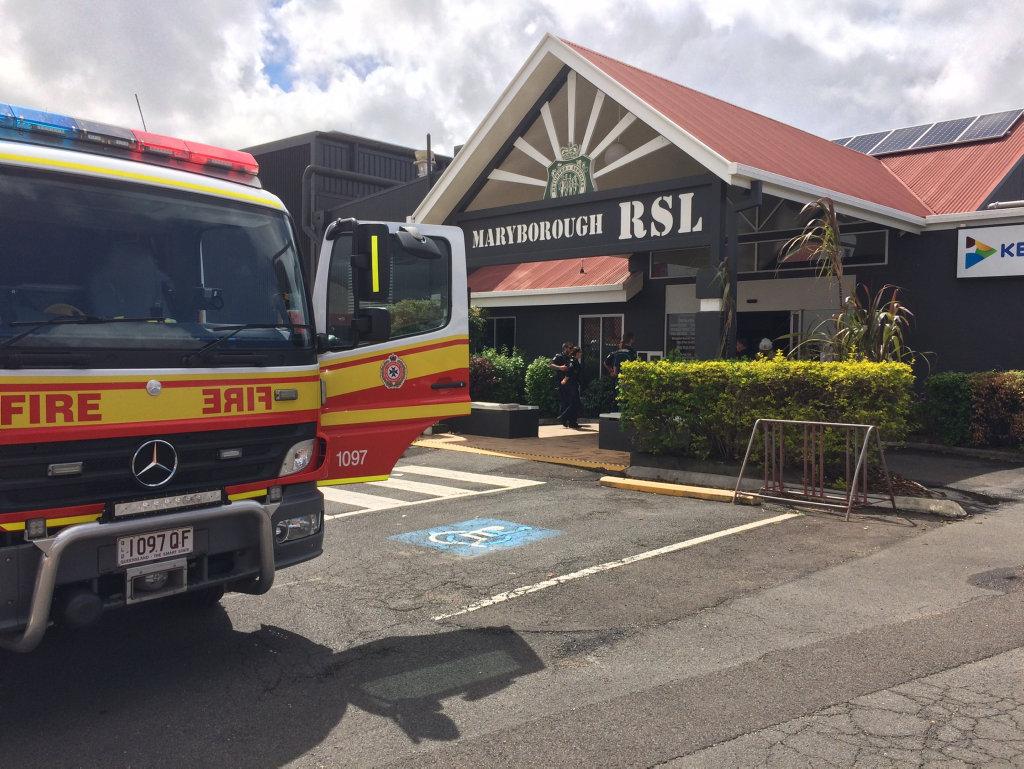 Maryborough RSL evacuated due to a fire.