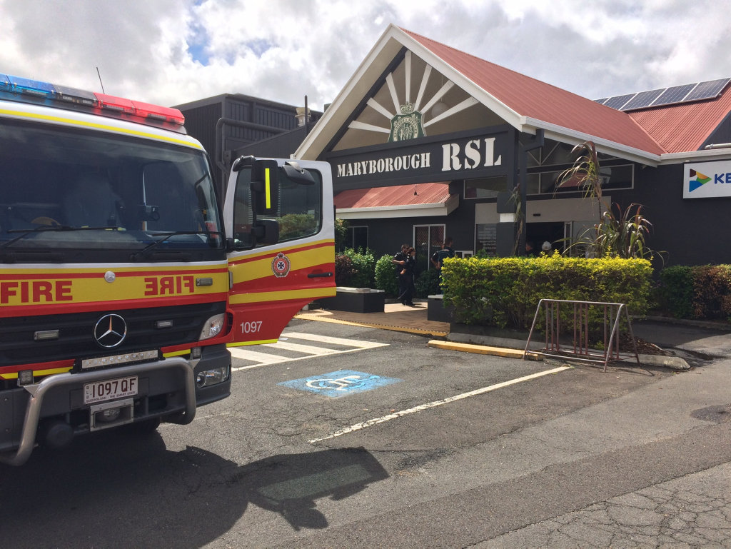 Maryborough RSL evacuated due to a fire.