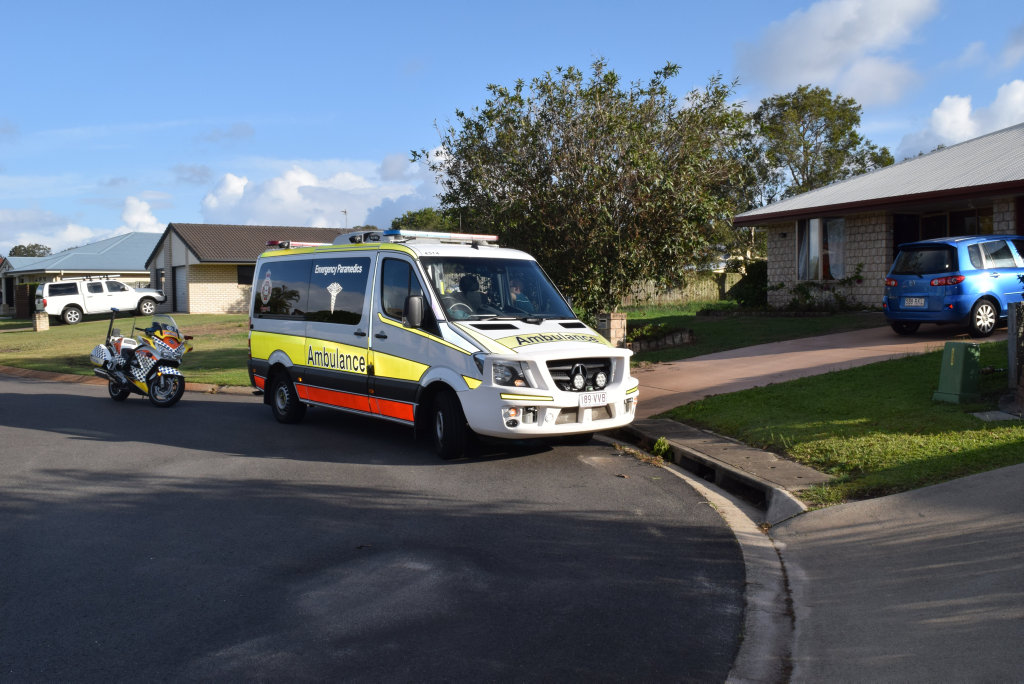 DOG ATTACK: Emergency services attending a house on Elliot Court in Eli Waters, after a dog allegedly bit a woman and mauled a pet.
