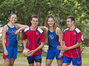 Touch players (from left) Georgia Bartlett, Ben