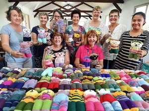 Crafty ladies comfort sick children with knitted bears