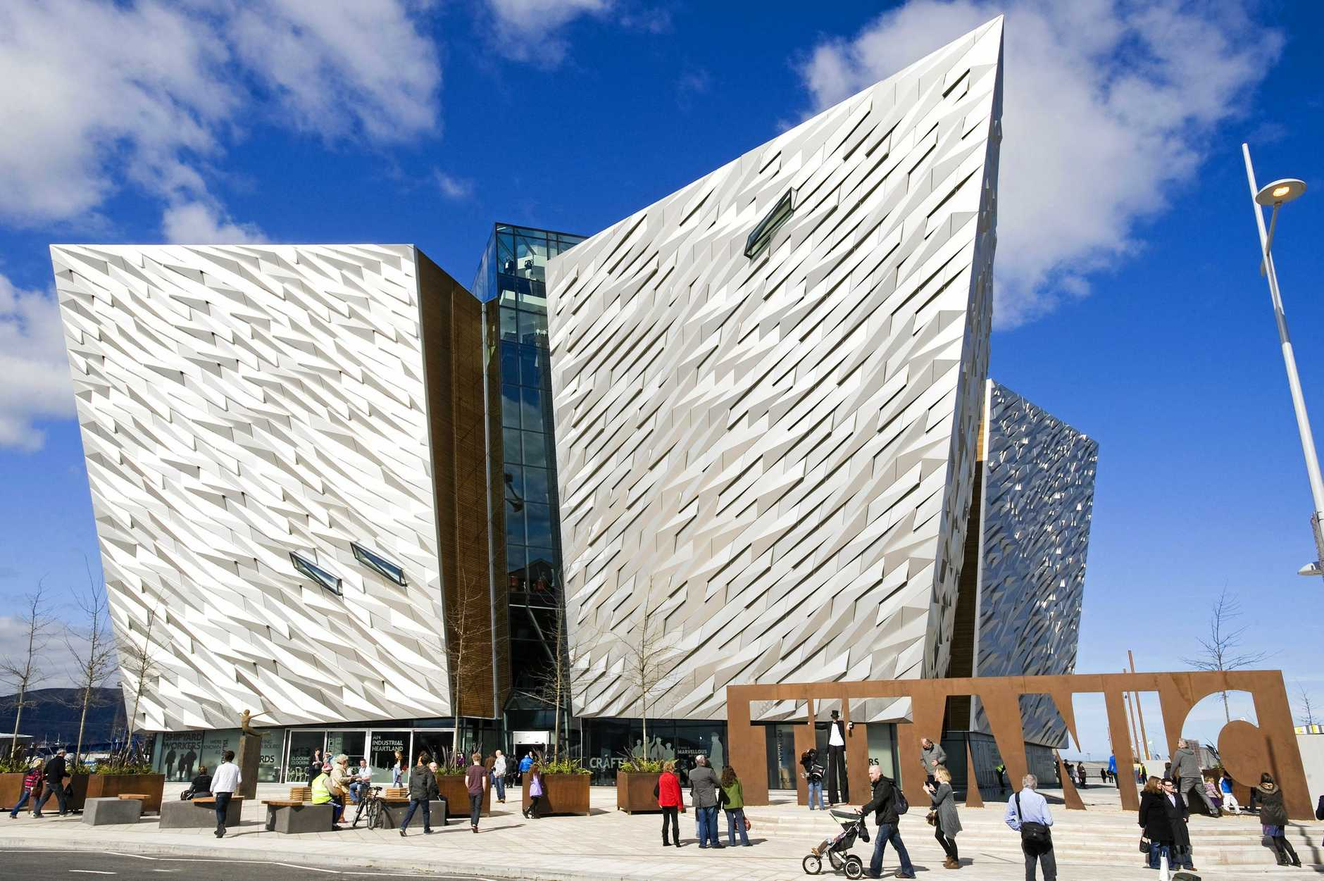 The Titanic Signature Building in Belfast.