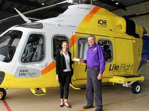 Lions roar their support for LifeFlight