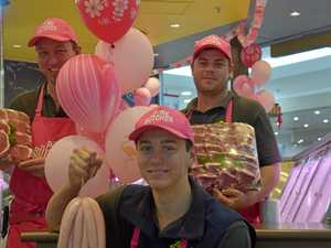 Butcher goes pink for a cause