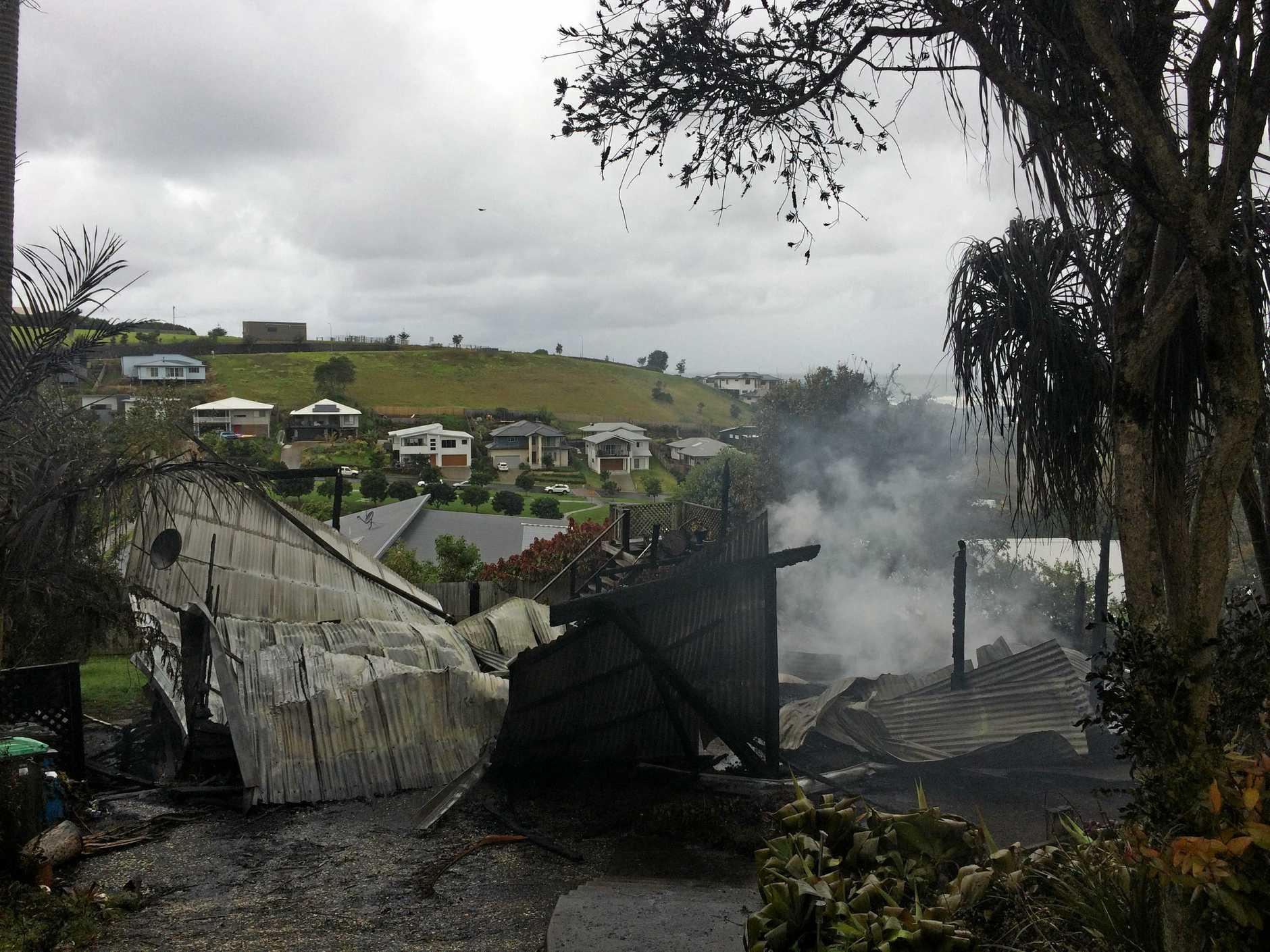 Crew at Lennox Head post fire.