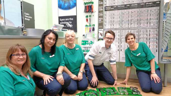 OPENING EYES: Staff members at Specsavers in Hervey Bay are collecting customers' pre-loved quality specs to help change the lives of millions of people with vision impairments.