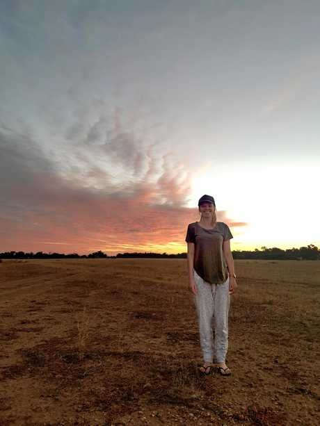 Robina Hospital Nurse Hayley Hewitt-Robinson during her time in Quilpie.