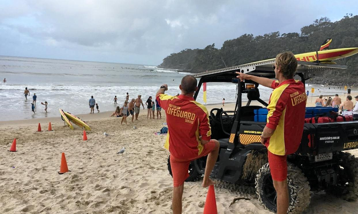 Noosa is experiencing major flash rips and strong currents, forcing Surf Lifesaving Queensland lifeguards onto high alert.